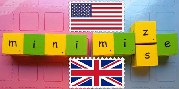 us uk minimize vs minimise