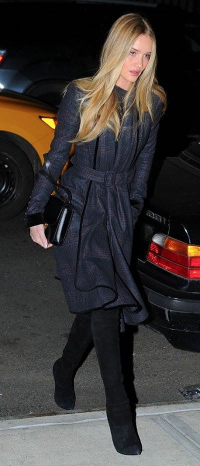 5 Rosie Huntington-Whiteley wearing Burberry outerwear in New York 23rd January 2013
