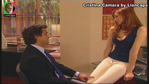Cristina Camara sensual na novela Dei-te quase tudo
