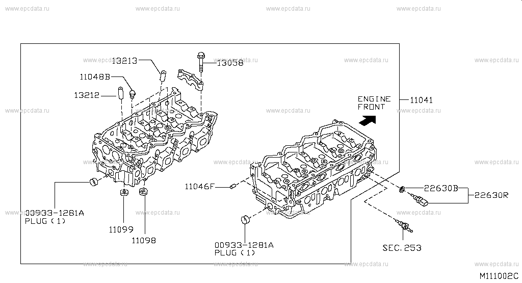 nissan navara engine diagram