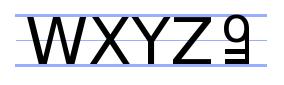 W X Y Z Key