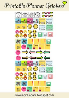 FREE printable calendar planner stickers (great for to-do lists ...