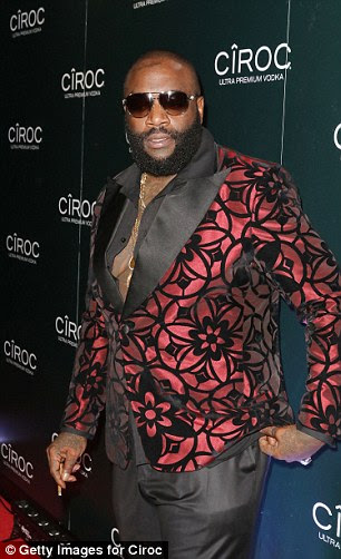 Suave:Hitmakers Rick Ross and Jermaine Dupri also stormed the red carpet, each sporting equally suave looks