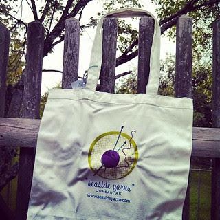 My #seasideyarns bag just arrived! Wishing we were back in #alaska #knitstagram