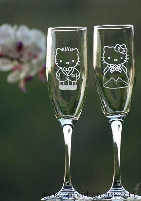 Hello Kitty and Dear Daniel champagne glass set :o