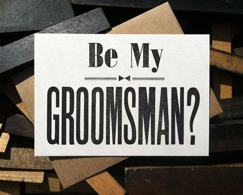 Will You Be My Groomsman Card letterpress groomsman by