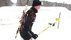 Carsen Campbell will compete in biathlon in Finland later this month.