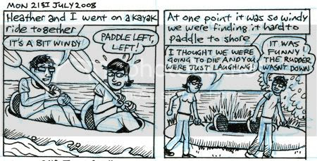 Kayak ride from hell comic