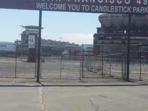 Candlestick Crumbles view from cracked parking lot