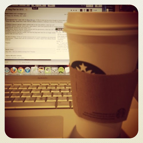Mixing things up an working from Starbucks today. Nice change of pace.