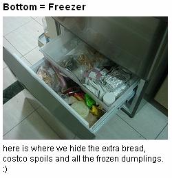 bottom, freezer