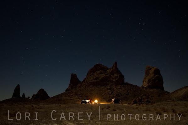 Camping at Trona Pinnacles National Natural Landmark
