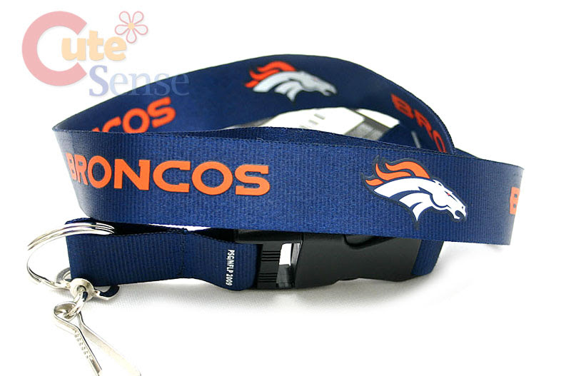 NFL Denver Broncos Lanyard NFL Key Chain Ticket Holder eBay