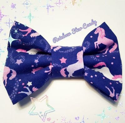 Unicorns in the Sky Hair Bow