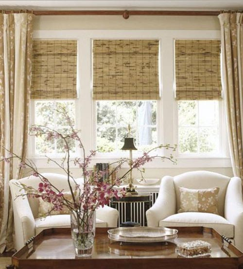 The natural appearance of bamboo window shades