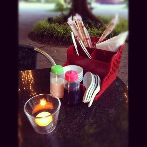 candle light kopitiam dinner