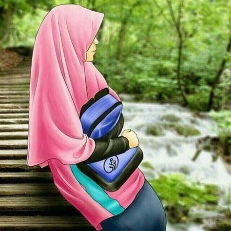 gambar kartun muslimah  belakang khazanah islam