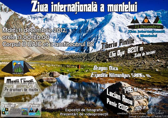 AFISZIM1 Ziua Internationala a Muntelui este sarbatorita si la Iasi
