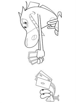 Kids-n-fun.com | 19 coloring pages of Zig and Sharko