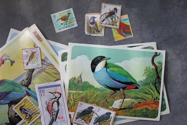 Vintage Birds & Stamps