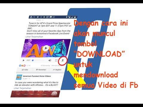 Cara mudah download semua video di facebook