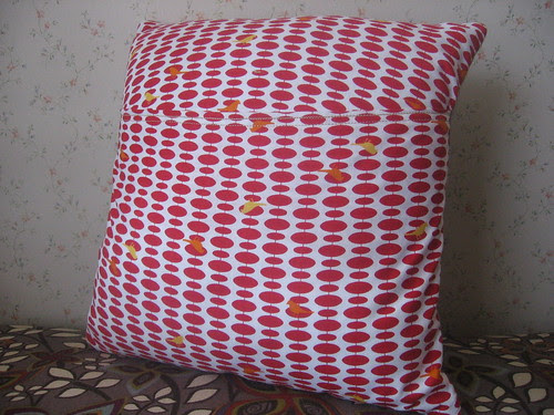 Gnome Home Pillow -- Reverse side