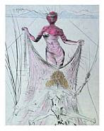 Salvador Dalí - Woman Holding Veil: From the Venus in Furs Suite (Prints)