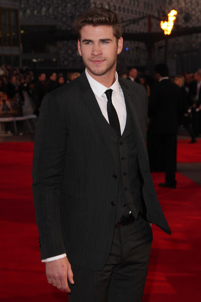 Liam Hemsworth (UK TABLOID NEWSPAPERS OUT) Liam Hemsworth attends the European premiere of The Hunger Games at The O2 Arena on March 14, 2012 in London, England.