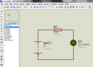 Connection and Simulation of Circuit