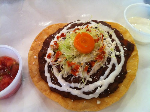 Black bean tostada at Las Tortugas