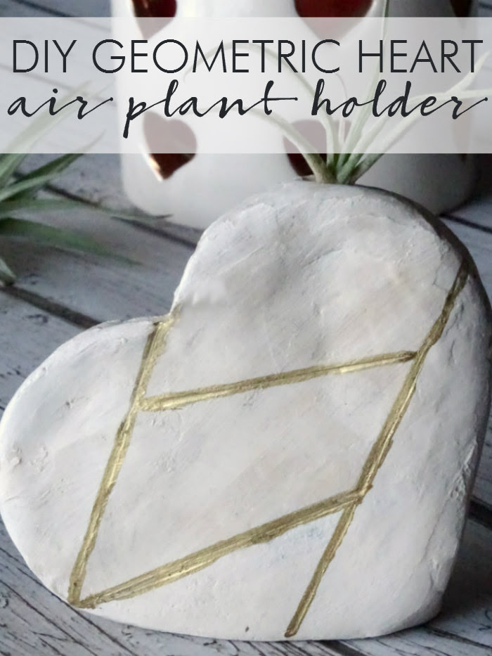 DIY Geometric Heart Air Plant Holder