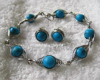 Herringbone Weave Bracelet and Earrings Set