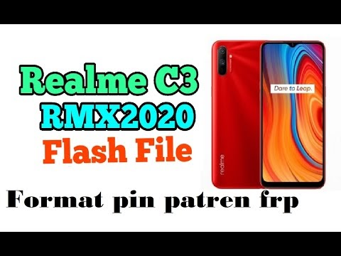 Realme C3 RMX2020 flashing format pin frp unlock etc done by softichnic