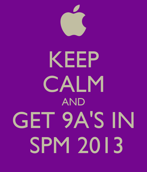 All the Best to All SPM Candidates 2013