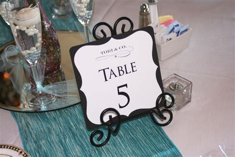 Tiffany Themed Wedding Table Numbers   Too Chic & Little