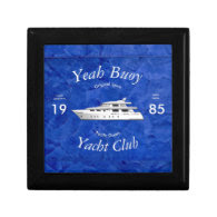 Yacht Club Yeah Buoy Trinket Boxes