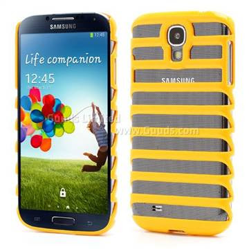 Hollow Ladder PC Skin for Samsung Galaxy S4 i9500 i9502 i9505 - Yellow