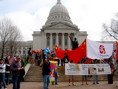 Tibet/China rally in Madison