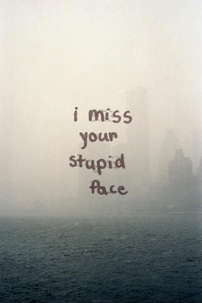 I Miss Your Stupid Face Picture Quotes