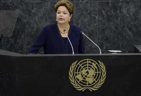Dilma Rousseff en su discurso ante la Asamblea General de la ONU