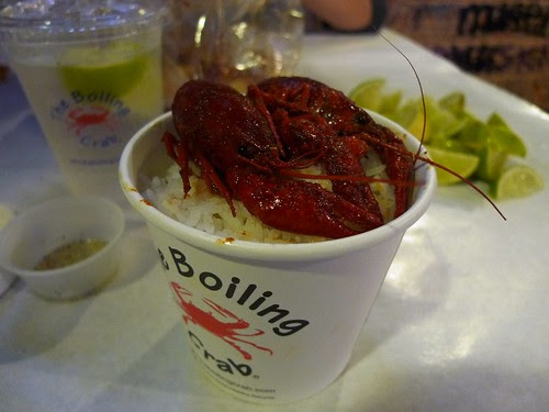Crawfish on Steamed Rice