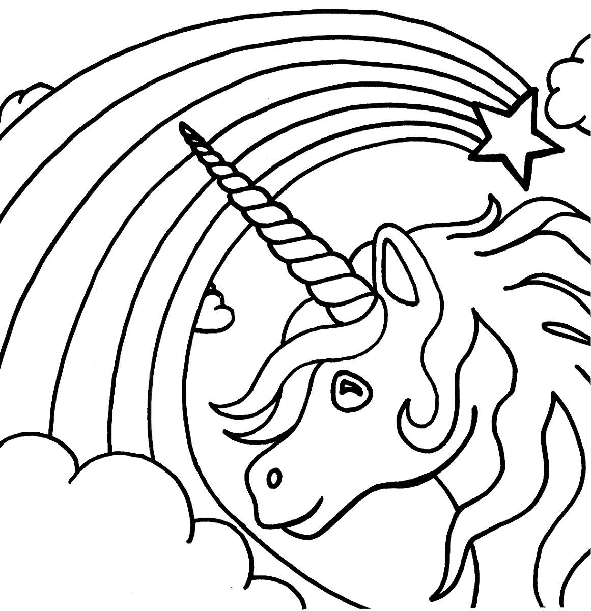 Rainbow Unicorn Drawing at GetDrawings | Free download