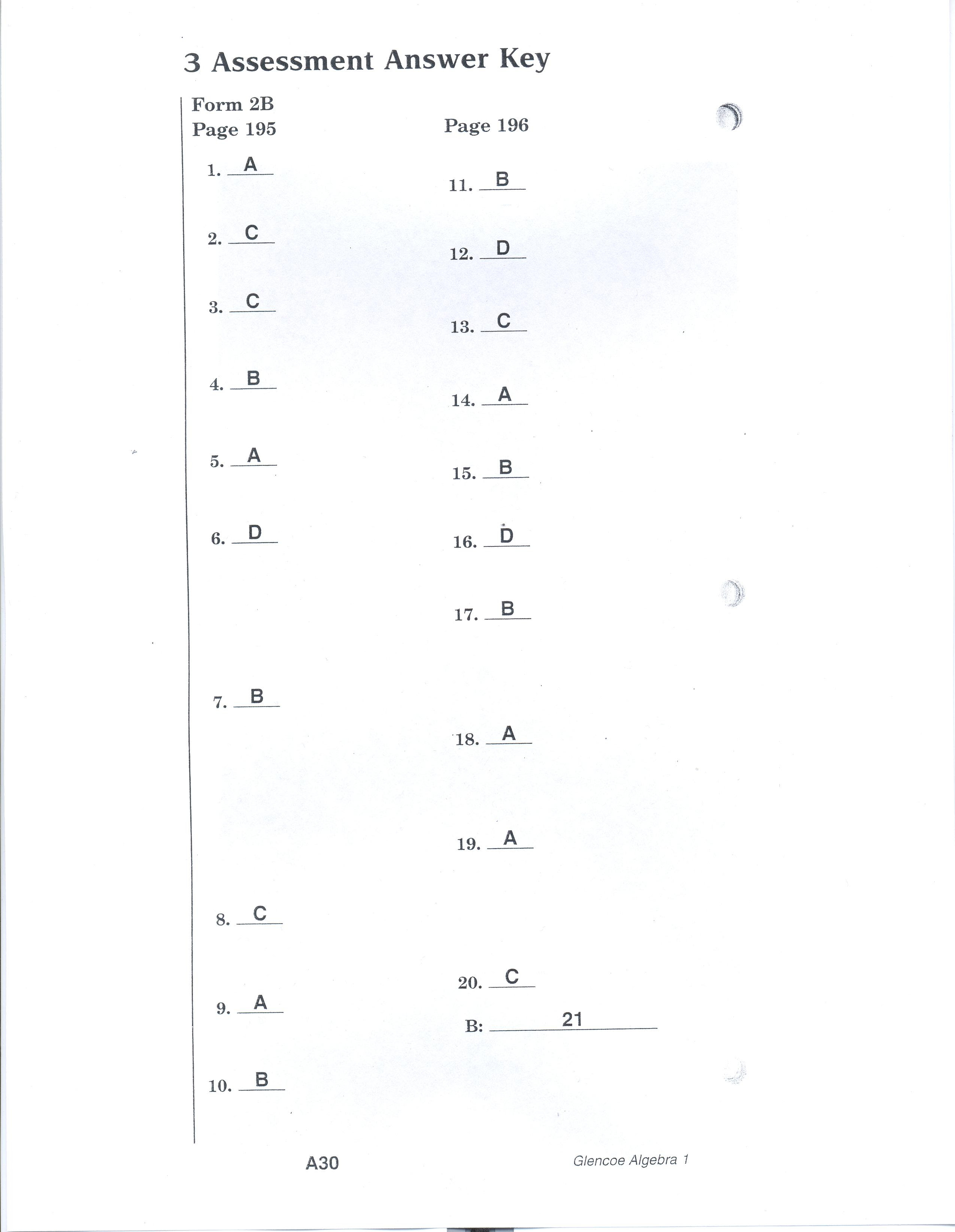 81 CHAPTER 3 TEST FORM 2B ANSWERS - * Form