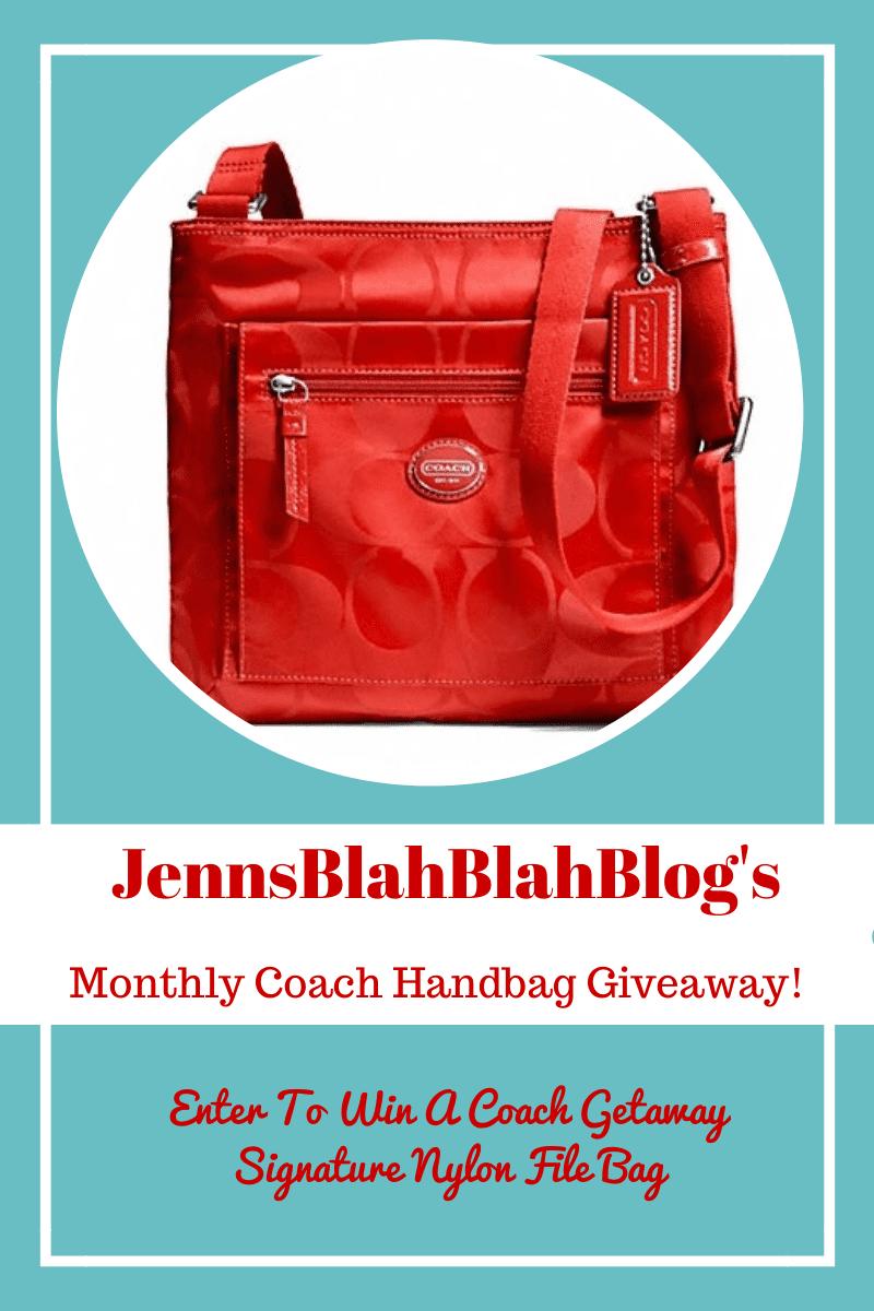 coach handbag giveaway on jenns blah blah blog
