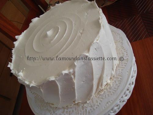 bolo branco com confiture fraise