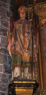 Resultado de imagen para San Fermín predicando en un detalle de su peana.