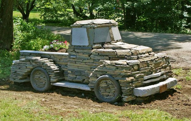 Truck Made of Stone
