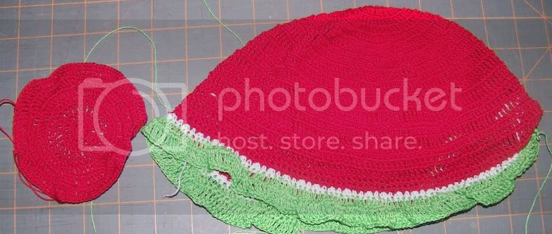 Crochet watermelon hat