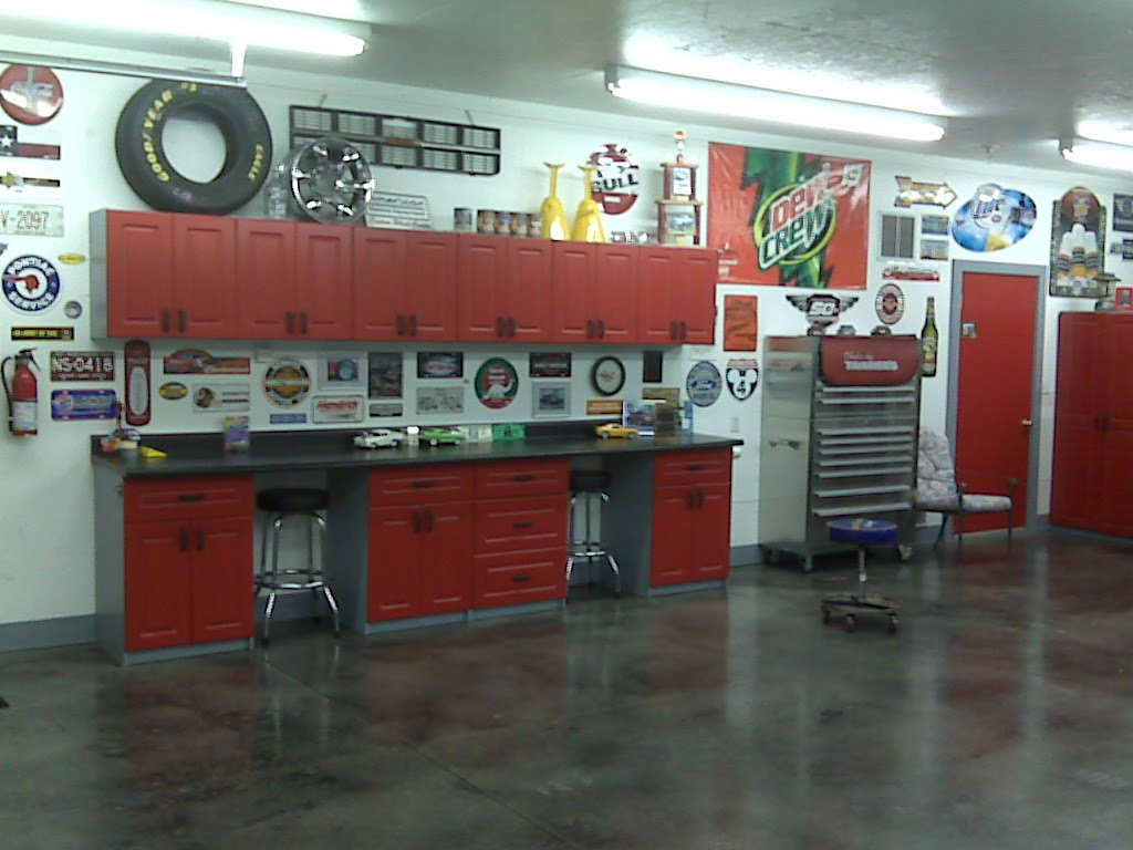 Painted Garage Cabinets