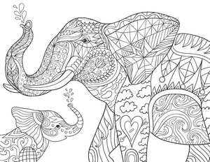 elephant adult coloring pages at getdrawings  free download